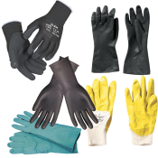 Gummihandsker og handsker med belægning