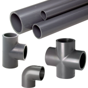 PVC limefittings og -rør